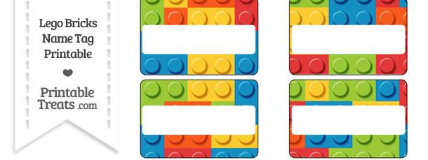 Lego Bricks Name Tags