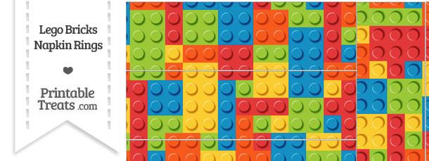 Lego Bricks Napkin Rings