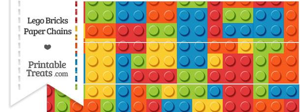 Lego Bricks Paper Chains
