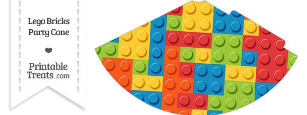 Lego Bricks Party Cone