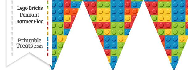 Lego Bricks Pennant Banner Flag