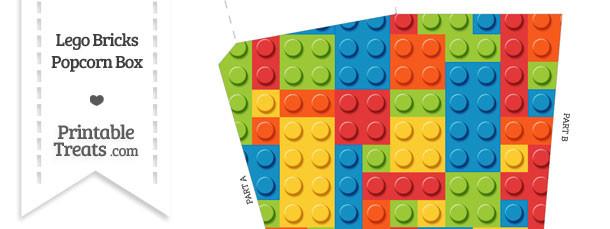 Lego Bricks Popcorn Box