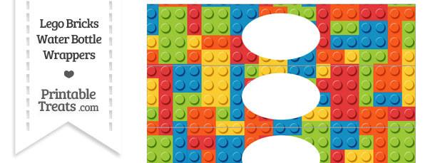 Lego Bricks Water Bottle Wrappers