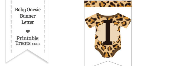 Leopard Print Baby Onesie Bunting Banner Letter I