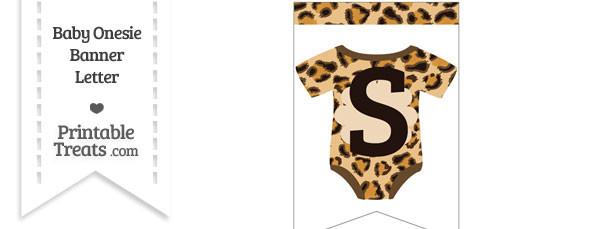 Leopard Print Baby Onesie Bunting Banner Letter S