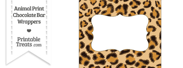 Leopard Print Chocolate Bar Wrappers
