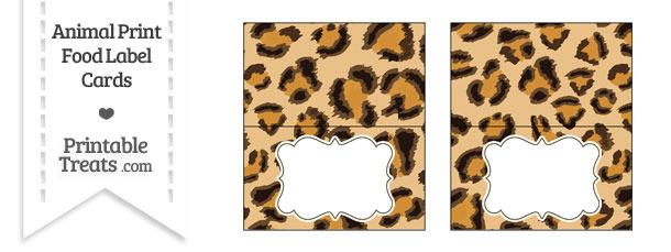Leopard Print Food Labels