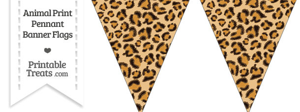 Leopard Print Pennant Banner Flag