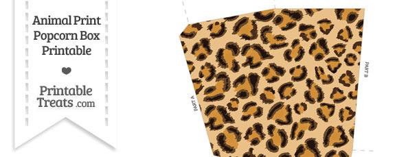 Leopard Print Popcorn Box