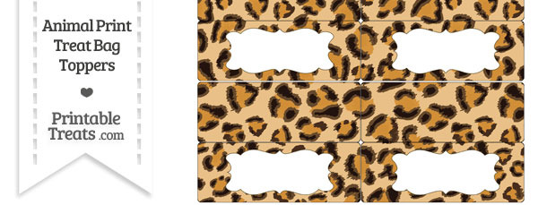 Leopard Print Treat Bag Toppers