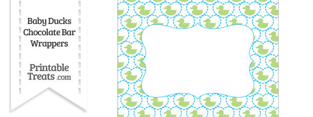 Light Green Baby Ducks Chocolate Bar Wrappers