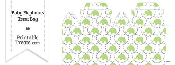 Light Green Baby Elephants Treat Bag