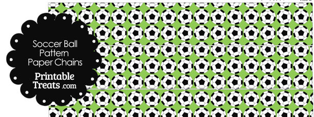 Light Green Soccer Ball Pattern Paper Chains