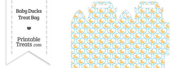 Light Orange Baby Ducks Treat Bag