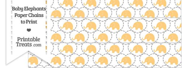 Light Orange Baby Elephants Paper Chains