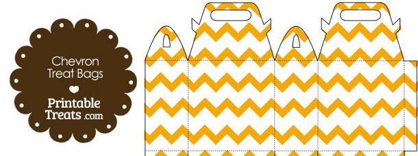 Light Orange Chevron Treat Bags to Print
