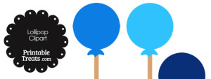 Lollipop Clipart in Shades of Blue