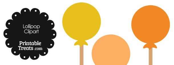 Lollipop Clipart in Shades of Orange