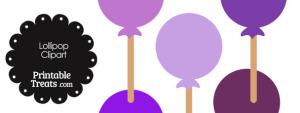 Lollipop Clipart in Shades of Purple