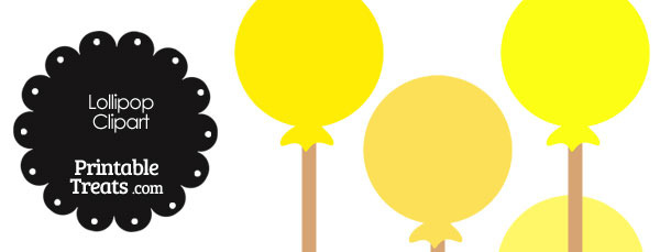 Lollipop Clipart in Shades of Yellow