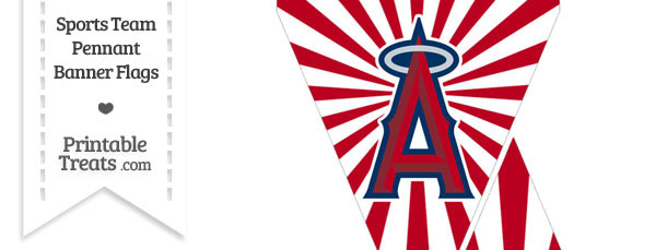 Los Angeles Angels Mini Pennant Banner Flags
