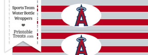 Los Angeles Angels Water Bottle Wrappers