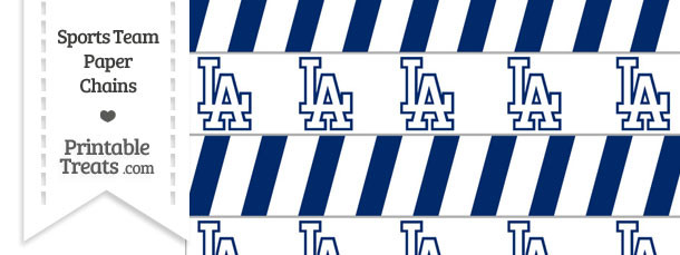 Los Angeles Dodgers Paper Chains