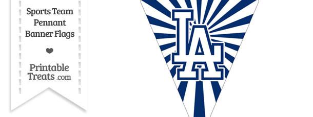 Los Angeles Dodgers Pennant Banner Flag