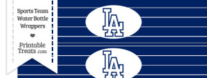 Los Angeles Dodgers Water Bottle Wrappers