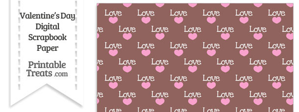 Love Digital Scrapbook Paper