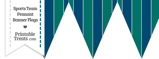 Mariners Colors Pennant Banner Flag