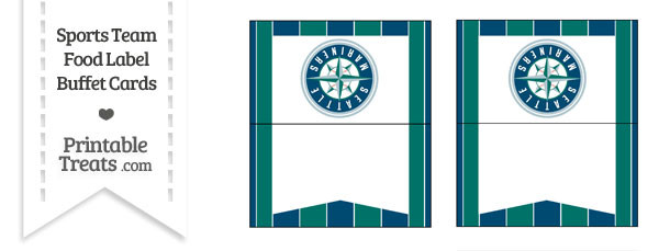Mariners Food Label Buffet Cards