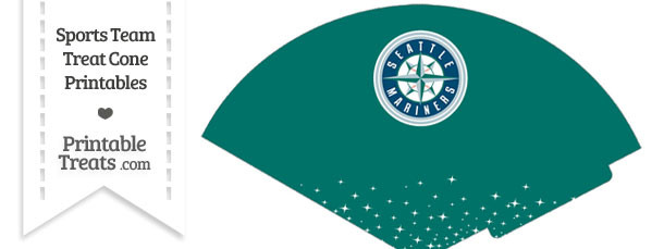 Mariners Treat Cone Printable