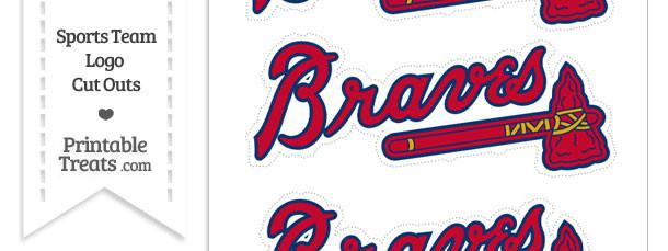 Medium Atlanta Braves Logo Cut Outs