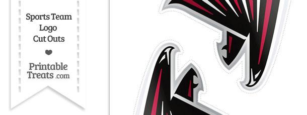 Medium Atlanta Falcons Logo Cut Outs