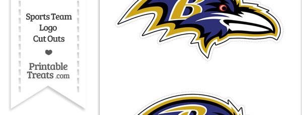 Medium Baltimore Ravens Logo Cut Outs