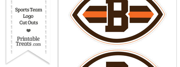 Medium Cleveland Browns Logo Cut Outs