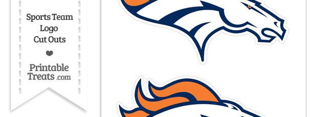 Medium Denver Broncos Logo Cut Outs