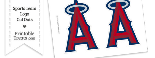 Medium Los Angeles Angels Logo Cut Outs