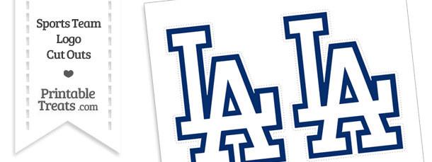 Medium Los Angeles Dodgers Logo Cut Outs