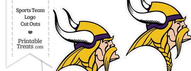 Medium Minnesota Vikings Logo Cut Outs