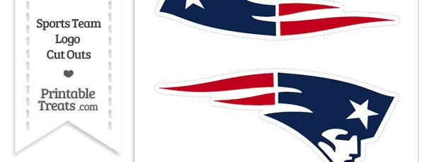 Medium New England Patriots Logo Cut Outs