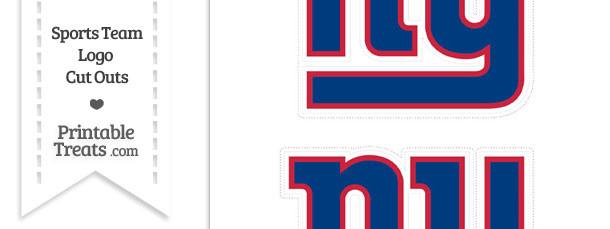 Medium New York Giants Logo Cut Outs