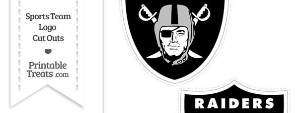 Medium Oakland Raiders Logo Cut Outs