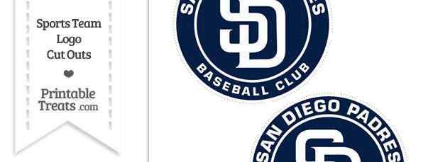 Medium San Diego Padres Logo Cut Outs
