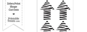 Medium Sized Zebra Print Arrow Cut Outs