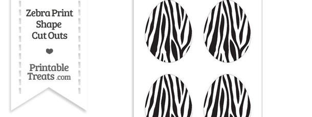 Medium Sized Zebra Print Easter Egg Cut Outs
