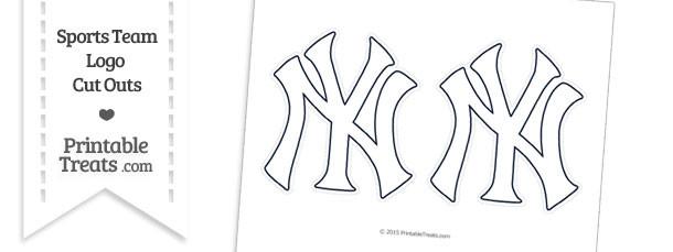Medium White New York Yankees Logo Cut Outs