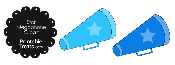 Megaphone Clipart in Shades of Blue