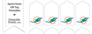 Miami Dolphins Gift Tags